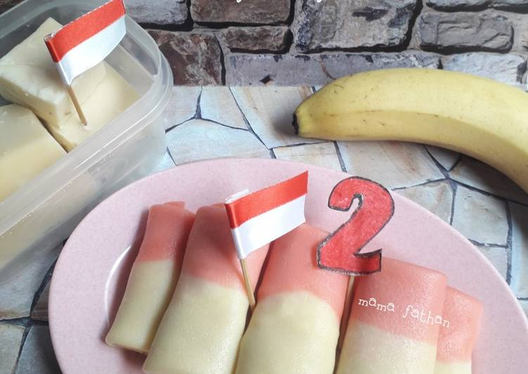 Dadar gulung pisang keju