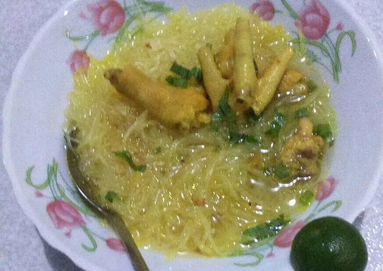 Resep Soto kuning ceker ayam Anti Gagal