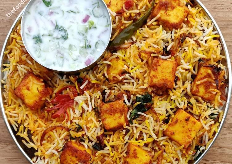 Easiest Way to Prepare Appetizing Paneer biryani