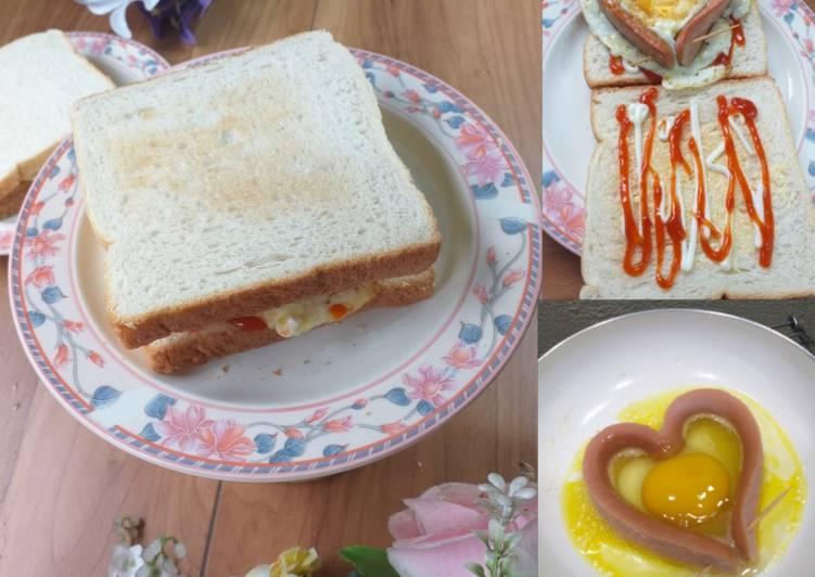Resepi:  Roti Bakar Pujaan Hati 😍  Lazat