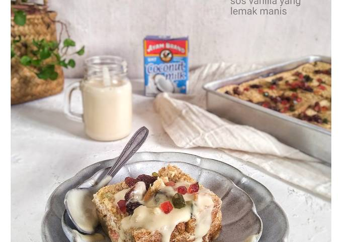 Butter bread pudding