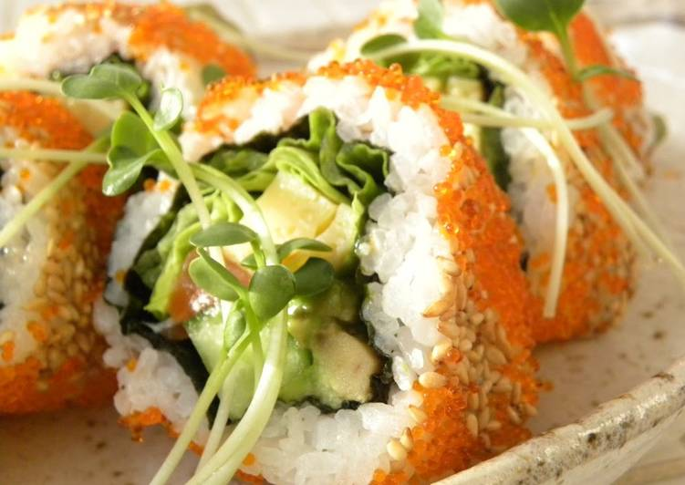 10 Minute Easiest Way to Make Fall California Rolls