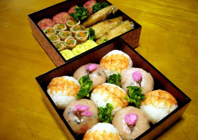 Bento for a Cherry Blossom Viewing Picnic - Laurie G Edwards
