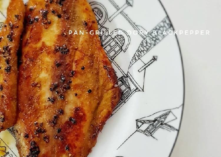 Easiest Way to Prepare Favorite Pan-grilled Dory Blackpepper
