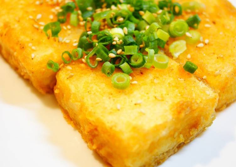 Recipe of Speedy Pan-Fried Tofu With Sesame Ginger Miso