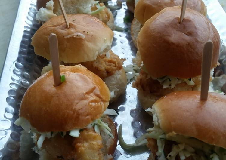 Easiest Way to Make Delicious SOUTHERN chicken sliders with Carolina coleslaw!