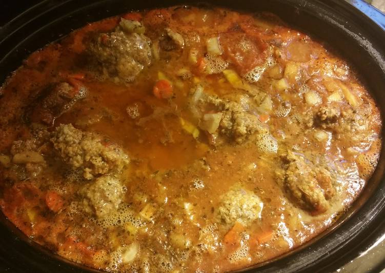 Steps to Prepare Favorite Meatball Stew