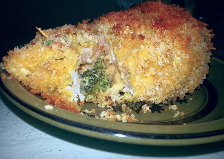 Cheesy Vegetable Stuffed Chicken Breast