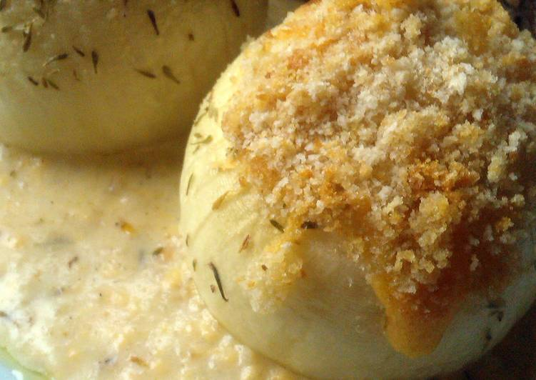 Recipe: Tasty Vickys Whole Onion Gratin, GF DF EF SF NF