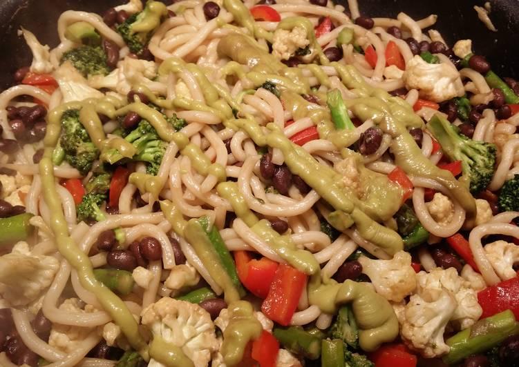 Nikki's BAE Vegetarian Udon Noodle Stir-Fry