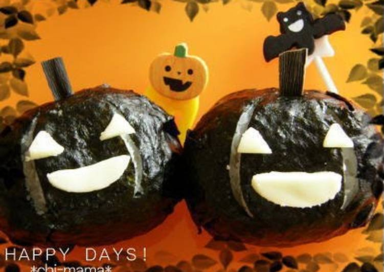 Halloween Rice Balls for Charaben
