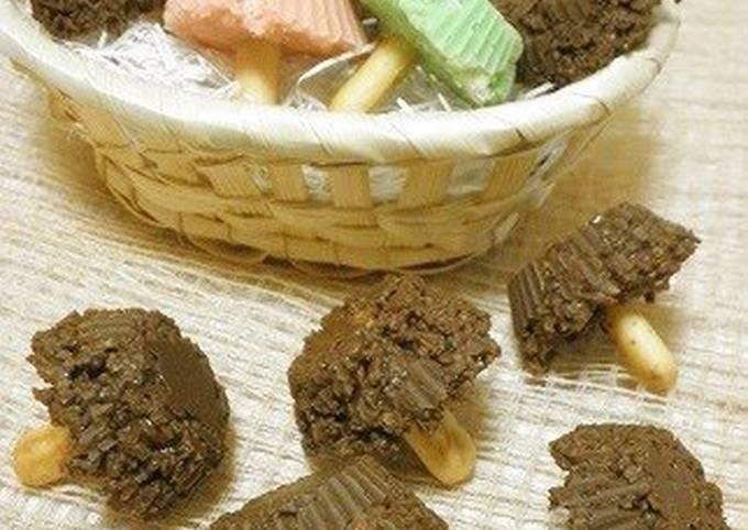 Crunchy Chocolate Mushrooms
