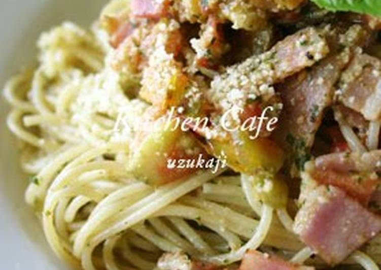 Recipe: Appetizing Bacon & Tomato Genovese Pasta