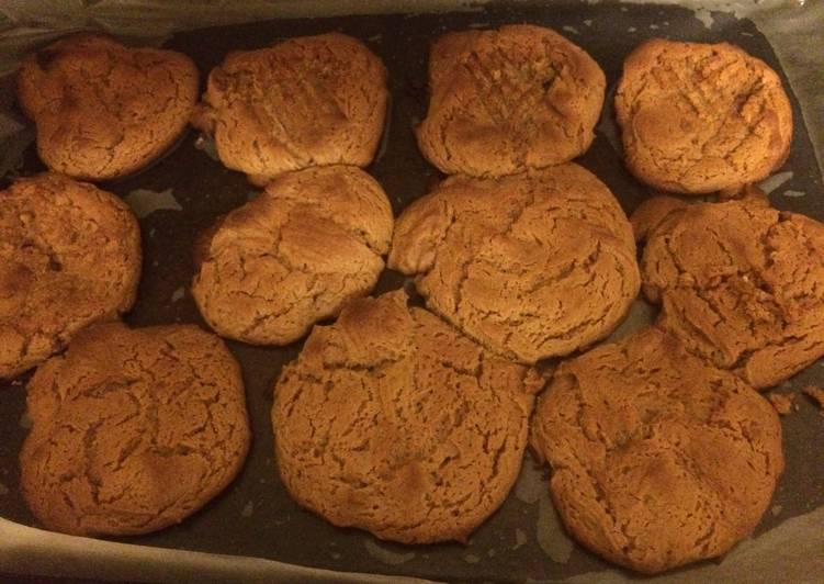 Easy Recipe: Appetizing No Flour Low Sugar Peanut Butter Cookies