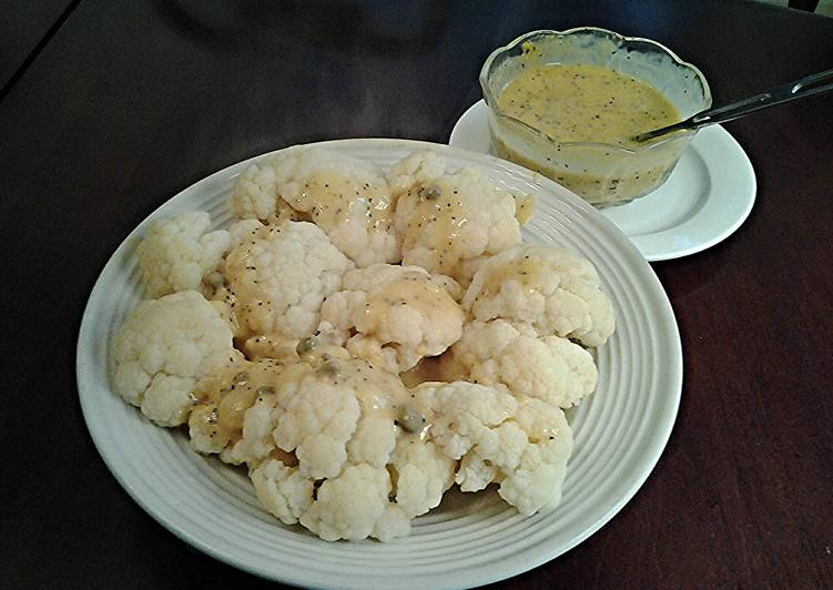 Cauliflower with Chili Lime Hollandaise Sauce