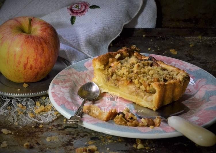 Le moyen le plus simple de Cuire Délicieuse Tarte aux pommes façon crumble au noix