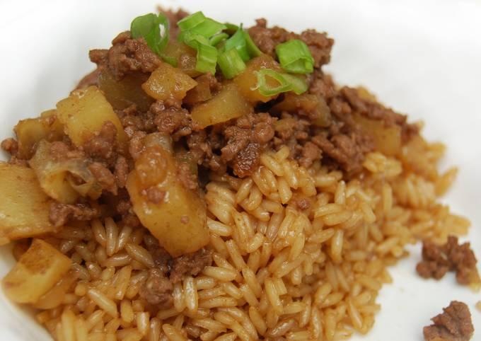 Minchee (Chinese Beef & Potato Hash)