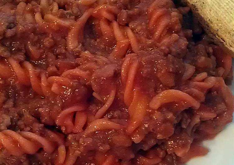 Vickys Pork Mince Pasta Bolognese, GF DF EF SF NF & Tomato Free