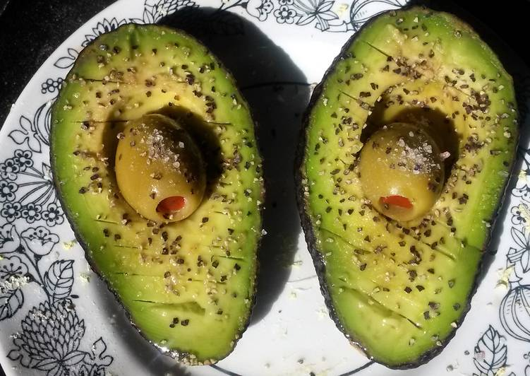 Avocado w/ olive juice