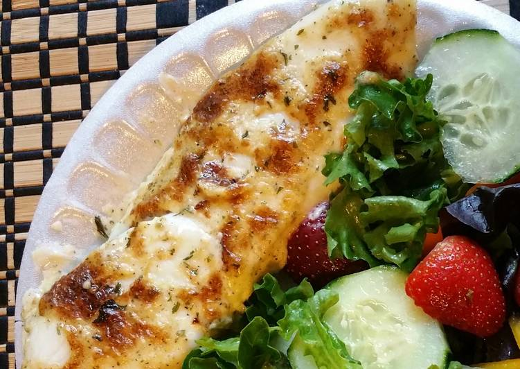Steps to Make Homemade Broiled Parmesan tilapia
