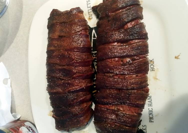 Steps to Make Award-winning Bacon wrapped pork tenderloin