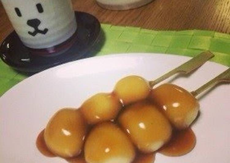 Mitarashi Dango with Shiratamako & Silken Tofu