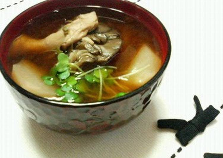 Grandmother's Dinner Ideas Spring Turnip and Maitake Miso Soup