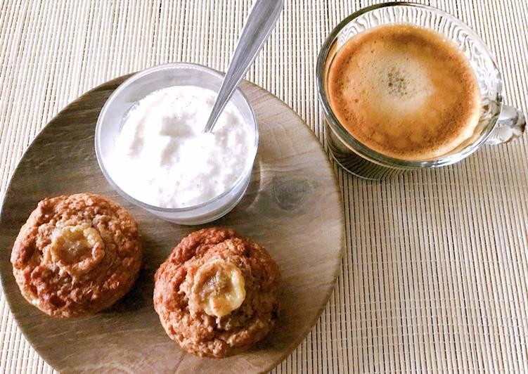 Muffins banane healthy  Aussi sur Instagram @stl_cuisine
