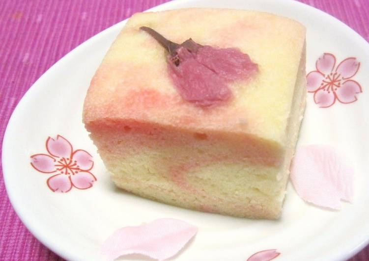 Steps to Prepare Homemade Easy Sakura Ukishima (Japanese-style Steamed Cakes) for Cherry Blossom Viewing