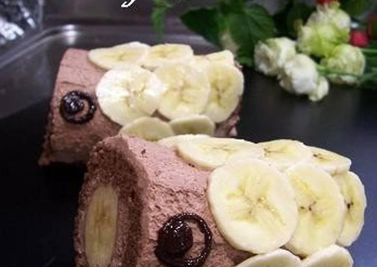 Chocolate & Banana Carp Banner Cake for Kid's Day