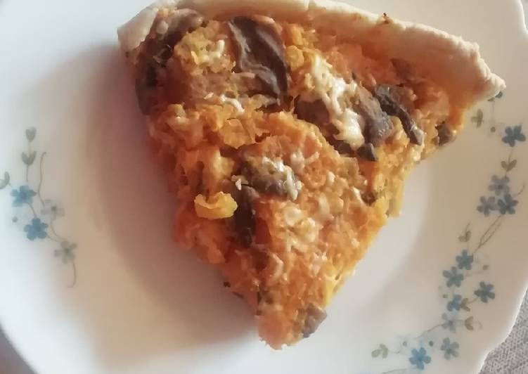 Tarte potiron champignons