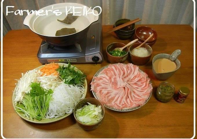 [Farmhouse Recipe] Shabu-Shabu with Shredded Vegetables