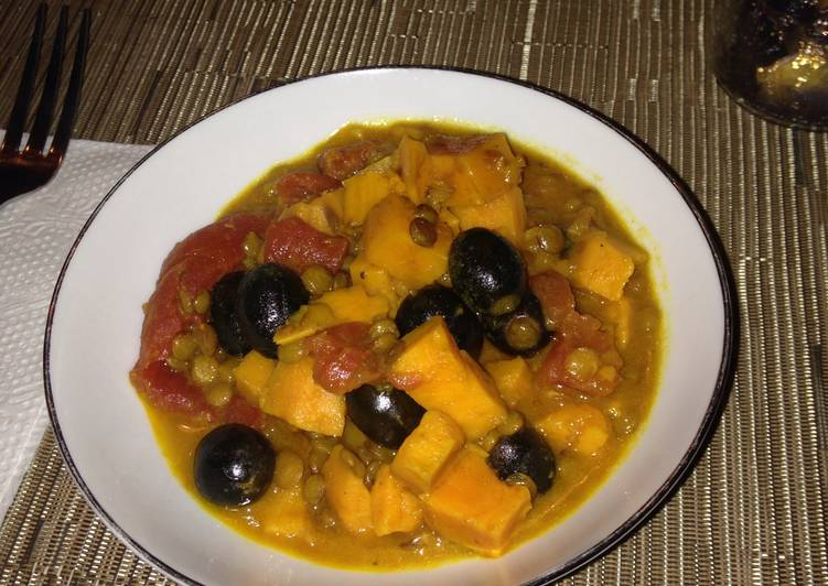 "Sweet Potato Lentil ""Curry"""