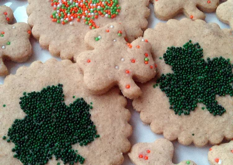 Steps to Prepare Perfect Vickys St Patricks Day Shamrock Cookies, Gluten, Dairy, Egg & Soy-Free