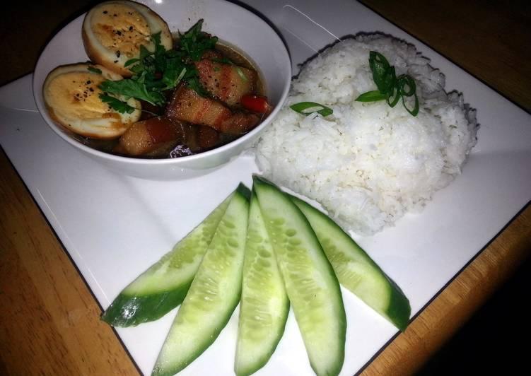 Vietnamese braised pork belly & egg