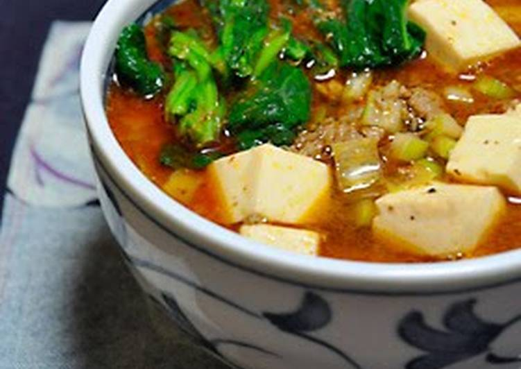 Simple Way to Prepare Top-Rated Spicy! Mapo Noodles~ Mapo Tofu Ramen~