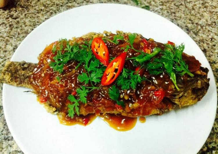 Easiest Way to Make Award-winning Kanya's Fried Fish with Chili and Ginger Sauce