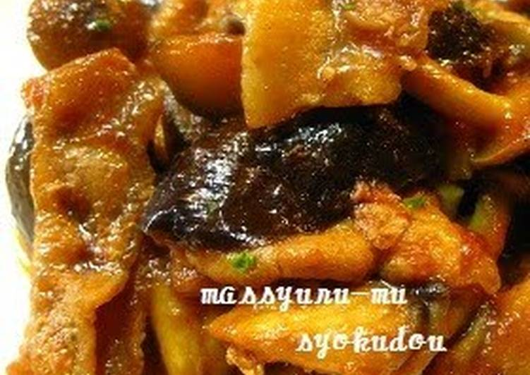 Pork & Eggplant Stir-Fry with Ketchup Curry Sauce