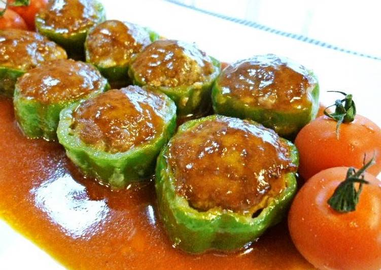 Simple Way to Prepare Super Quick Homemade Easy and Delicious Stuffed Green Bell Peppers