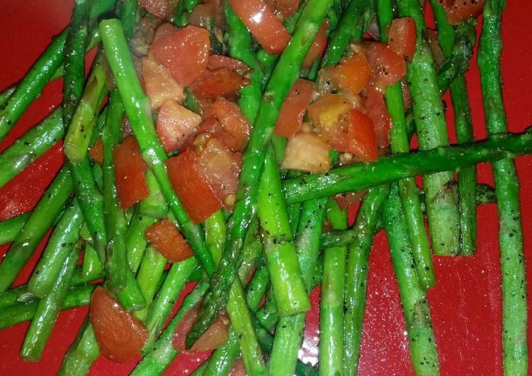 Asparagus with Roma tomatoes