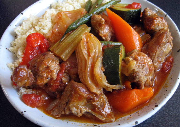Recipe: Delicious Stewed Lamb & Vegetables
