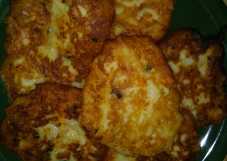 Left over mashed potato patties