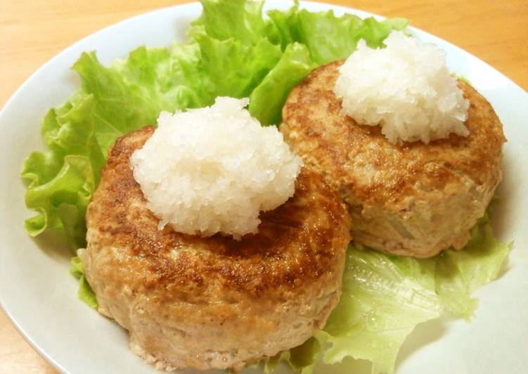 Inexpensive Bean Sprout Hamburger Steaks With Japanese-Style Grated Daikon Radish