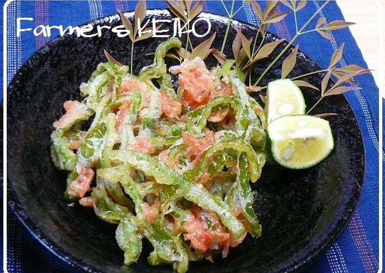 Recipe: 2020 Green Pepper and Sakura Shrimp Kakiage Fritters