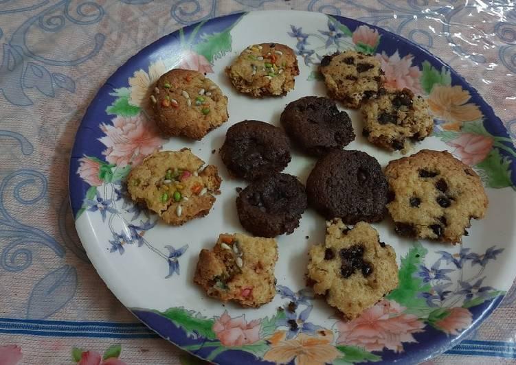 Simple Way to Make Favorite Vanilla Premix One dough 3 flavour cookies