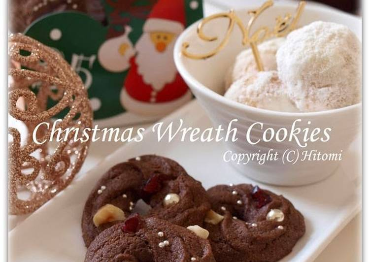 Easiest Way to Cook Appetizing Christmas Wreath Cookies