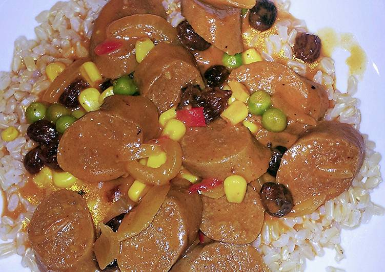 Recipe of Homemade curried sausages