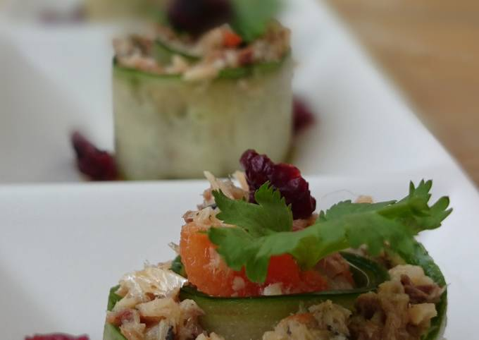 LG CUCUMBER ROLL UP APPETIZER