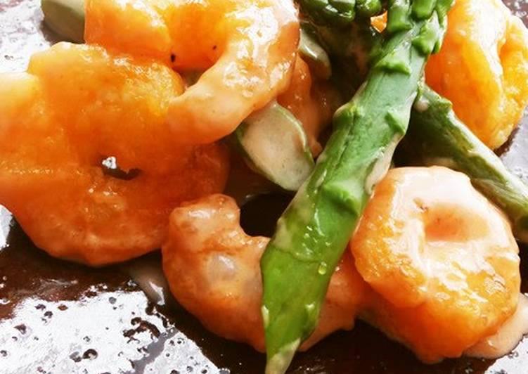 Recipe of Perfect Easy, Crunchy and Juicy Mayonnaise Shrimp Stir-fry (Ebimayo)