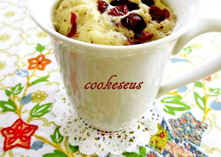 Step-by-Step Guide to Prepare Award-winning Microwave Cranberry Chocolate Cupcake in a Mug